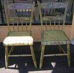 Signed, Dated, Decorated Daniel Tilton Chairs