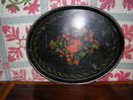 Decorated Black Tole Tray
