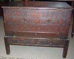 English Oak Brides Chest, dated 1775
