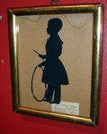Silhouette of a Boy with Hoop