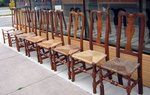Eight Individual 18th century Dutch Back Chairs