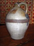 18thc Make-Do  Ovoid Stoneware Jug