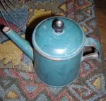 Tole Painted Toy Teapot