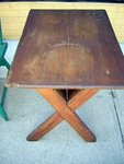 American Pine Sawbuck Table