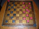 Inlaid Wooden Checkerboard