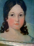 Folk Art Portrait  of Young Girl