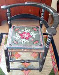 Country Painted Corner Chair