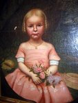 Folk Art Portrait of Little Girl