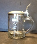 Glass and Pewter Stein