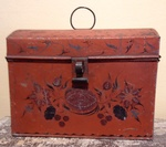 Red Tole Document Box
