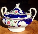 Gaudy Welsh Sugar Bowl