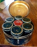 Tole Painted Tin Spice Box