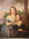 Oil Portrait - Two Young Women