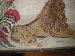 Frost type Hooked Lion Rug