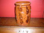 Decorated Redware Preserve Jar, Penn.