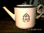 Chinese Export teapot, pseudo-armorial, American market
