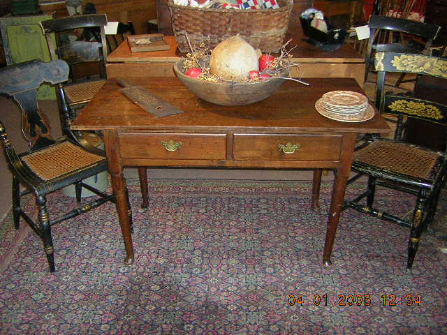 4 Foot Tall Table Pennsylvania Work Table Starr Antiques