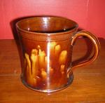 Engine-Turned & Rockingham Glazed  Large Mug,