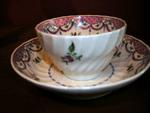 English Porcelain Cup and Saucer, circa late 18th c.