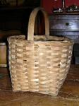 Splint Basket, Carved Handle